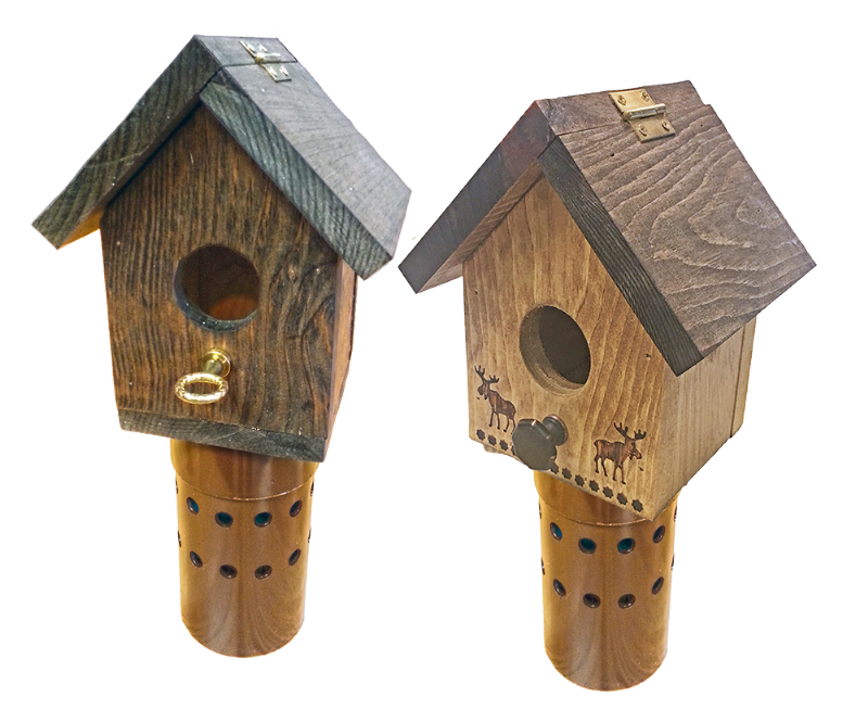 OrnaVent® Wooden Bird Houses